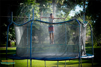 Trampoline Waterpark Fun Summer Outdoor Water Game