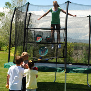 Skywalker 11', best square trampoline for kids