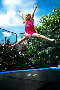 Trampolines encourage play