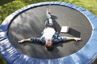 Difference between a trampoline and rebounder